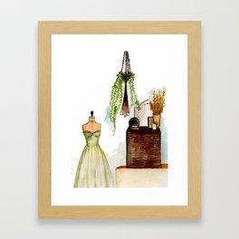 Vintage scene Framed Art Print