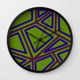 In Town - Green Wall Clock