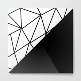 ART DECO PATTERN (BLACK-WHITE) Metal Print