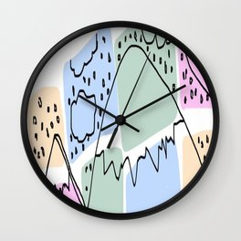 Which Mountain Wall Clock