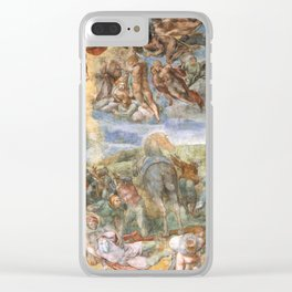 "Michelangelo ""The Conversion of Saul"" Clear iPhone Case"