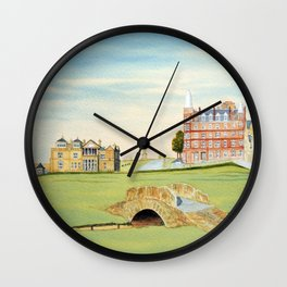 St Andrews Golf Course 18th Hole Wall Clock