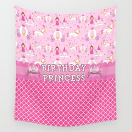 Birthday Princess Wall Tapestry