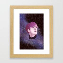 BTS Jin Galaxy drawing Framed Art Print