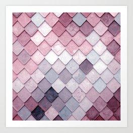 rosa pattern Art Print