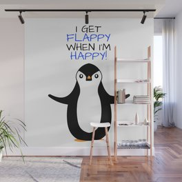 A happy penguin Wall Mural