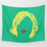 monroe Wall Tapestries featuring Monroe by fly fly away