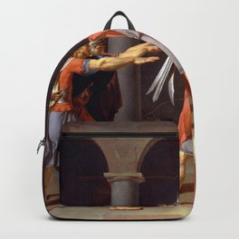 Oath of the Horatii by Jacques-Louis David Backpack