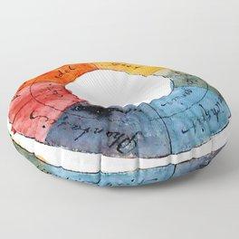 Goethe's Color Wheel (1809) Floor Pillow