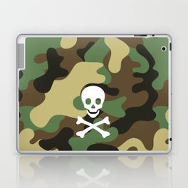 SKULL - CAMO & WHITE Laptop & iPad Skin