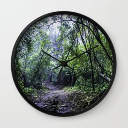 Misty Trail in the Rainforest of the Chocoyero-El Brujo Nature Reserve in Nicaragua Wall Clock