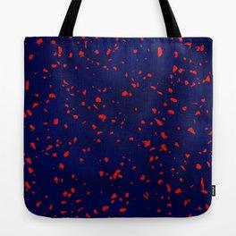 Terrazzo memphis blue galaxy orange Tote Bag