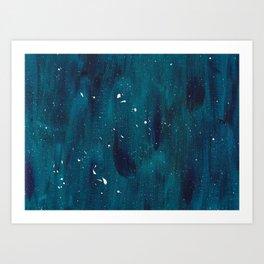 Turquoise Splatter Art Print