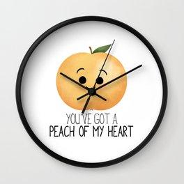 You've Got A Peach Of My Heart Wall Clock