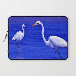 ROYAL BLUE GARZA BIRD Laptop Sleeve
