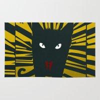 evil Area & Throw Rugs featuring Evil Cat by Antonio Ortega