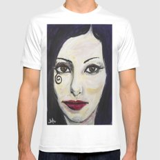 DEATH Mens Fitted Tee White MEDIUM