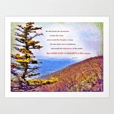 High Places Art Print