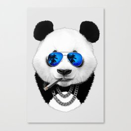 Summer Panda Canvas Print