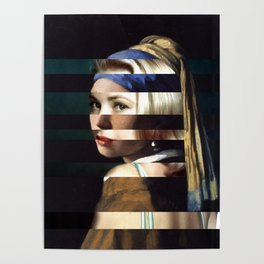 """Vermeer's """"Girl with a Pearl Earring"""" & Grace Kelly Poster"""