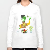 vegetarian Long Sleeve T-shirts featuring Vegetarian parody by Bakal Evgeny