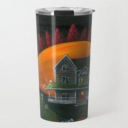 Hilly Haunted House Travel Mug