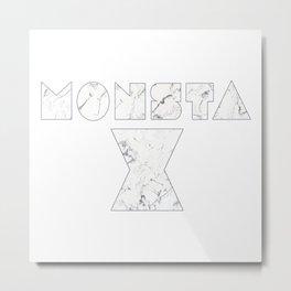 Monsta X Marble Metal Print