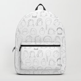 Faces in Black and White Backpack