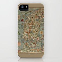 Carta Marina et Description 1539 iPhone Case