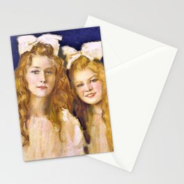 12,000pixel-500dpi - Franz von Stuck - Portrait of two young women - Digital Remastered Edition Stationery Cards
