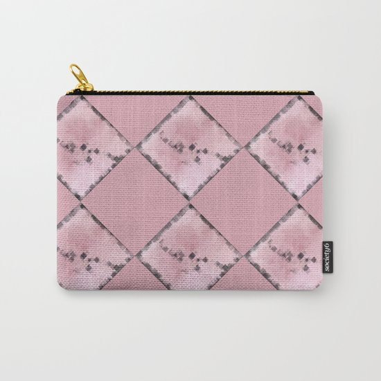 PINK SQUARE PATTERN #1 #decor #art #society6 Carry-All Pouch