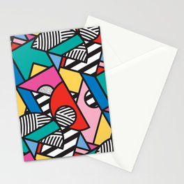 Colorful Memphis Modern Geometric Shapes - Tribal Kente African Aztec Stationery Cards