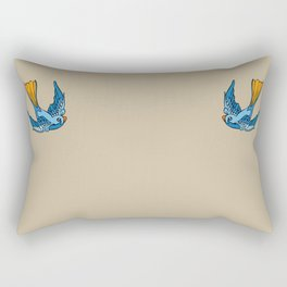 Swallow Tattoo Rectangular Pillow