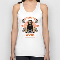 gym Tank Tops featuring Plissken's Gym by Buby87
