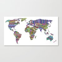 decal Canvas Prints featuring Overdose World by Bianca Green