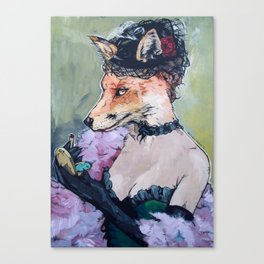 In the Hen House - Fox painted based on a piece by Konstantin Razumov Canvas Print