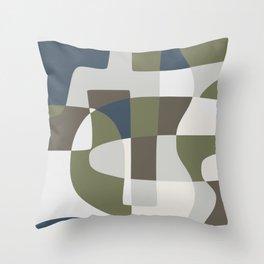 Scandinavian abstract palette pattern Throw Pillow