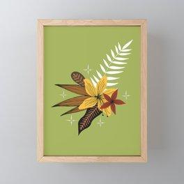 tropical bouquet on green Framed Mini Art Print