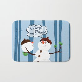 Funny Snowman Holiday Design Bath Mat