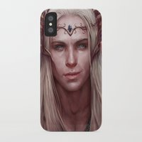 thranduil iPhone & iPod Cases featuring Thranduil Portrait by Jay Lockwood Carpenter