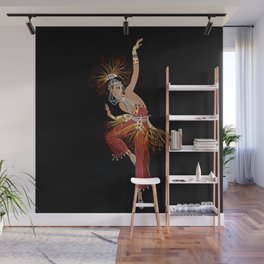 """Firebird Dancer"" Art Deco Image Wall Mural"