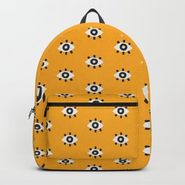 Evil Eye Dots – Marigold Palette Backpack