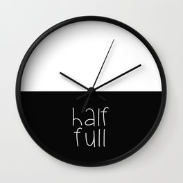 Half Full Wall Clock