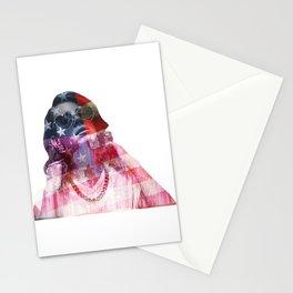 Lana Del Art (Stone American Flag) Stationery Cards