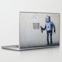 banksy Laptop & iPad Skins featuring Banksy Robot (Coney Island, NYC) by Limitless Design