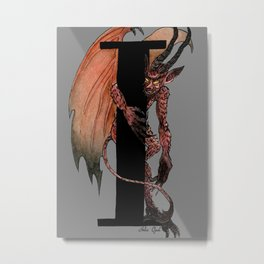 I is for Imp Metal Print