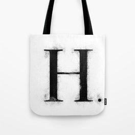 H . - Distressed Initial Tote Bag