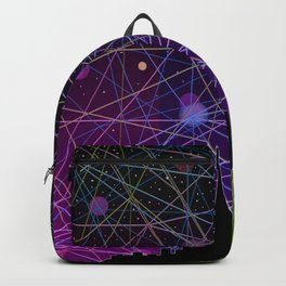 A Futurist's Starry Night Backpack