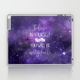 Believe In Yourself Motivational Quote Laptop & iPad Skin