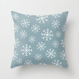 Snow Flakes Winter Throw Pillow